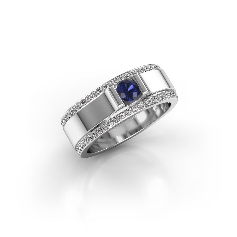 Men's ring Danillo 585 white gold sapphire 4.2 mm