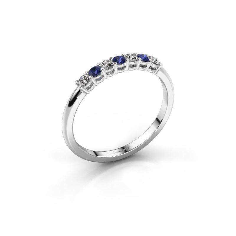 Verlovings ring Michelle 7 925 zilver saffier 2 mm