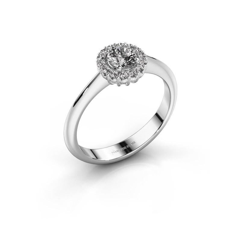Verlovingsring Anca 950 platina lab-grown diamant 0.30 crt