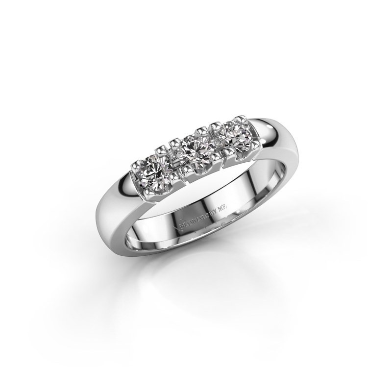 Engagement ring Rianne 3 585 white gold zirconia 3.4 mm