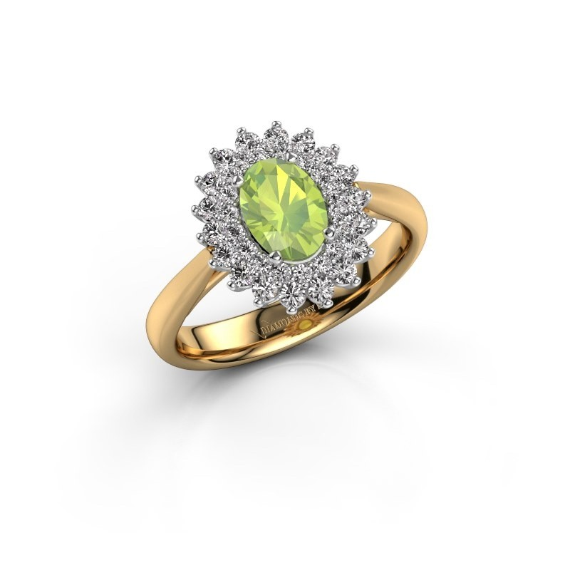 Engagement ring Alina 1 585 gold peridot 7x5 mm