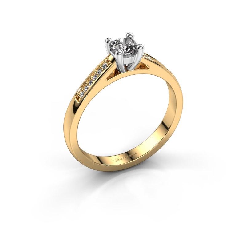 Bague de fiançailles Nynke 585 or jaune diamant 0.36 crt
