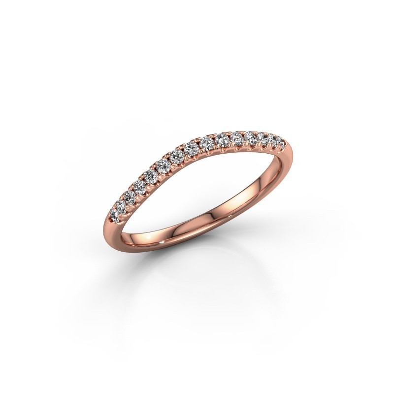 Stackable ring SR10A6H 375 rose gold diamond 0.168 crt