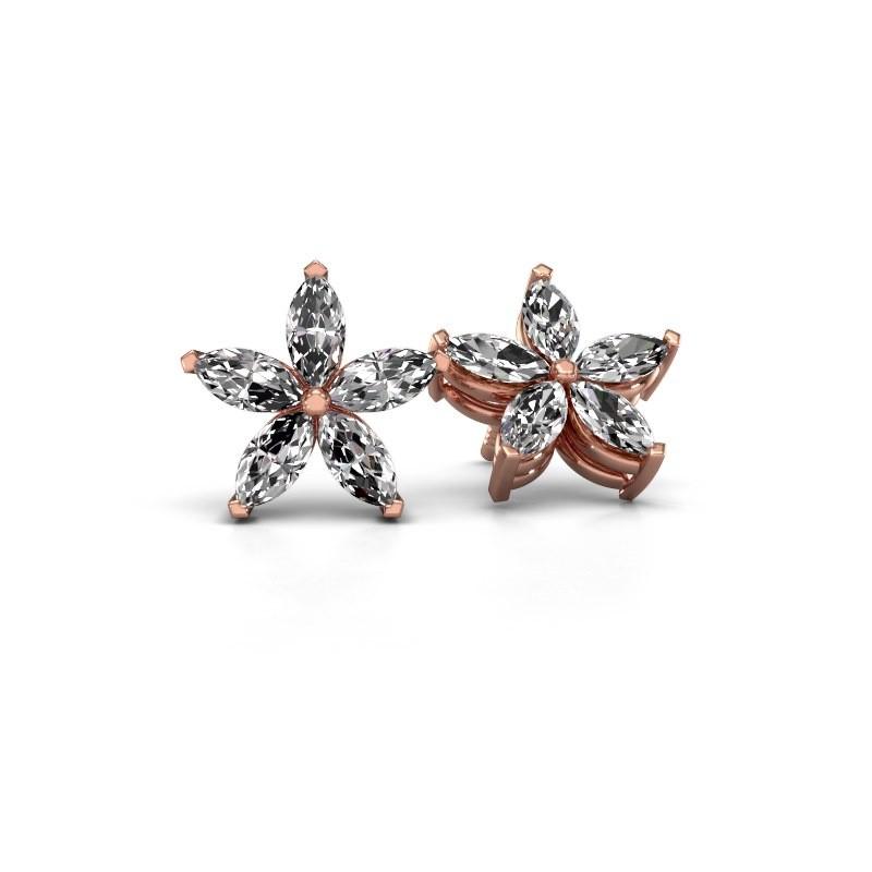 Oorstekers Sylvana 375 rosé goud lab-grown diamant 1.40 crt