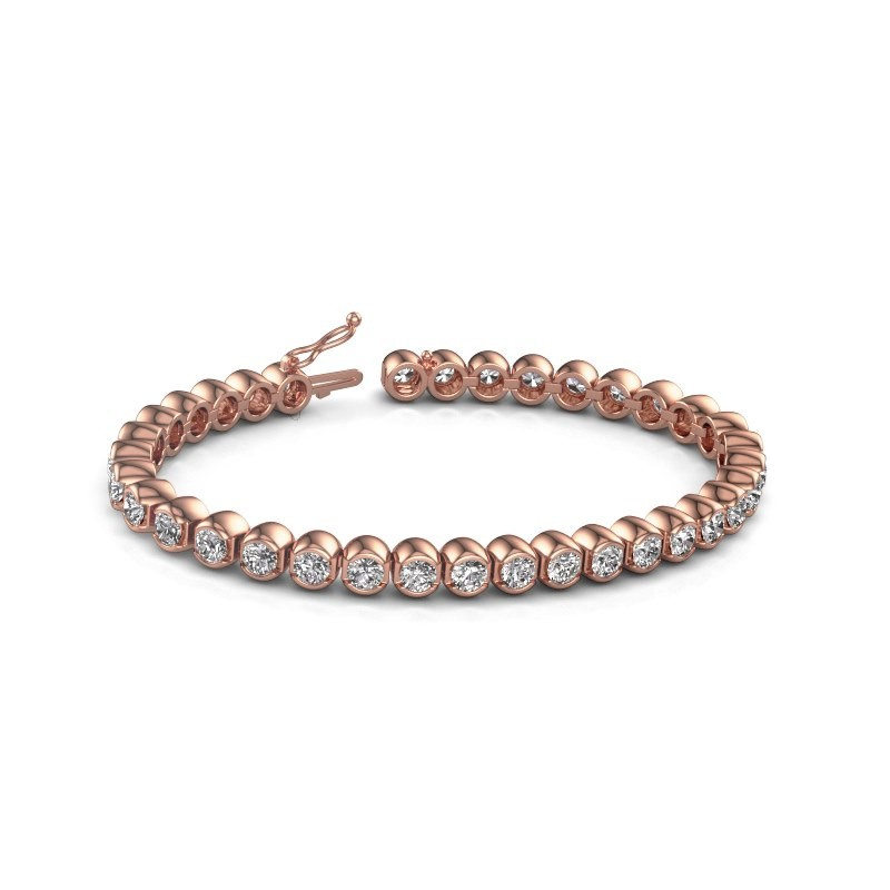 Tennis bracelet Bianca 375 rose gold diamond 8.75 crt