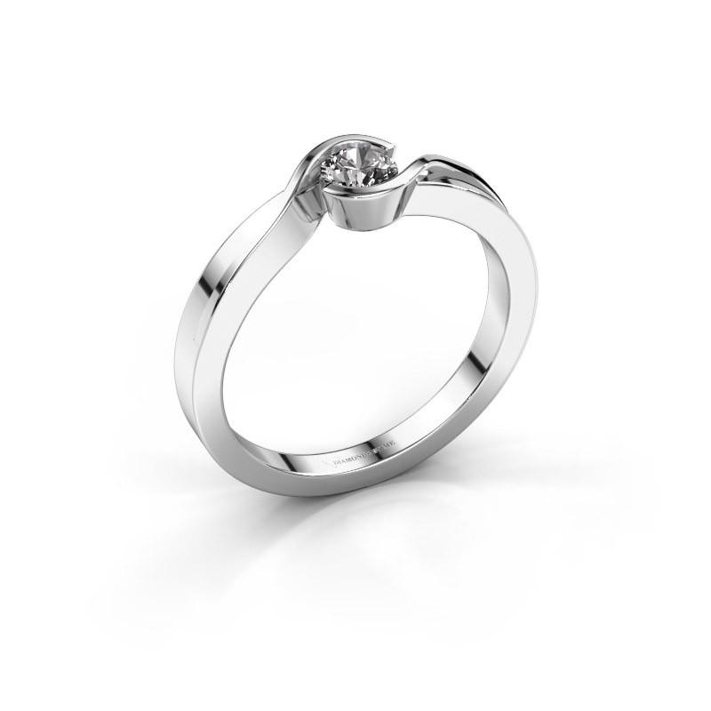 Bague Lola 585 or blanc diamant synthétique 0.25 crt