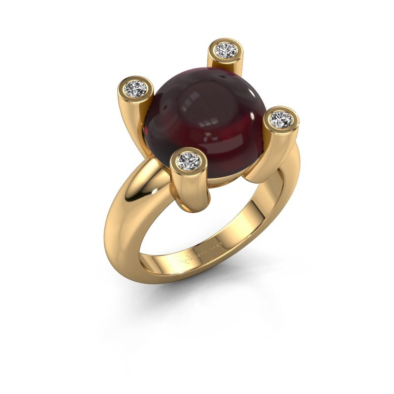 Ring Janice RND 585 goud granaat 12 mm