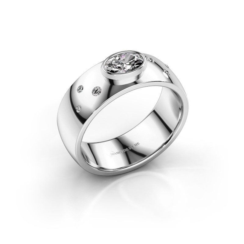 Ring Wilma 2 585 witgoud diamant 0.50 crt