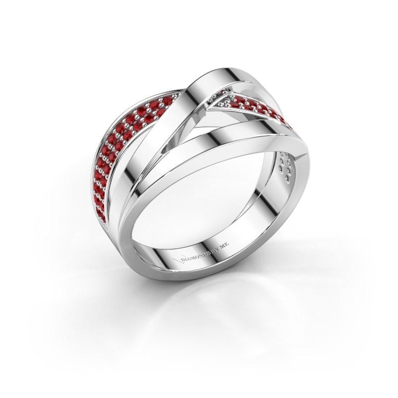 Ring Amira 925 zilver robijn 1.2 mm