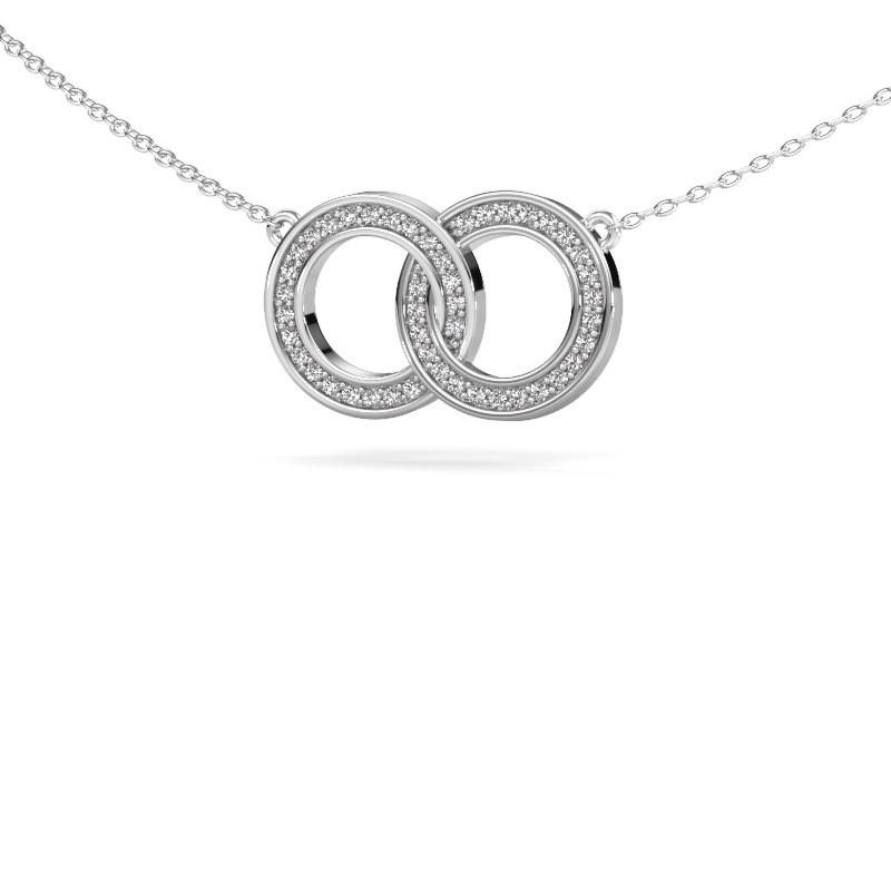 Ketting Circles 1 585 witgoud diamant 0.23 crt