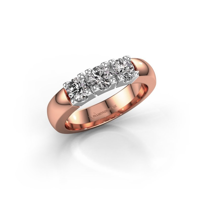Engagement ring Rianne 3 585 rose gold diamond 0.900 crt