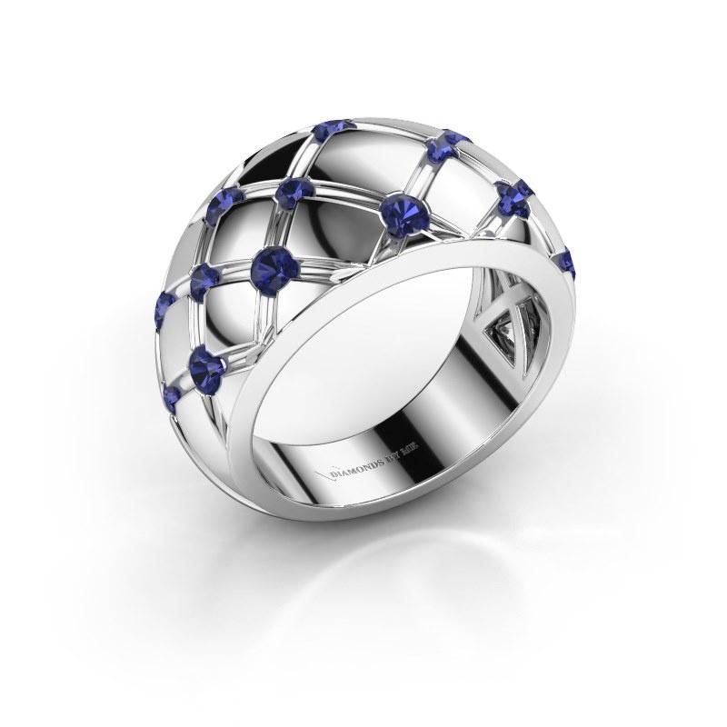Ring Imke 585 white gold sapphire 2.5 mm
