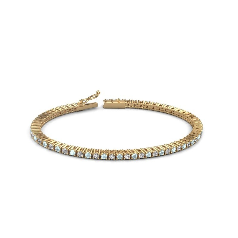 Tennis bracelet Karisma 375 gold aquamarine 2.4 mm