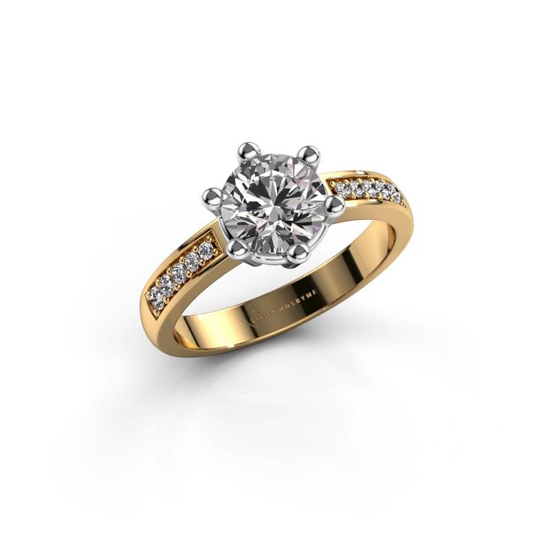 Verlovingsring Luna 2 585 goud diamant 1.00 crt