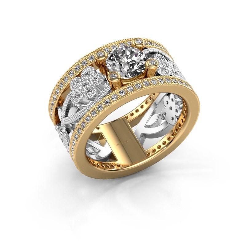 Ring Severine 585 goud zirkonia 6 mm