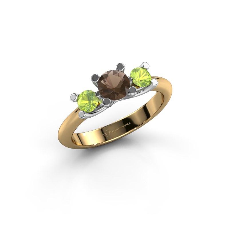 Ring Mirthe 585 Gold Rauchquarz 5 mm