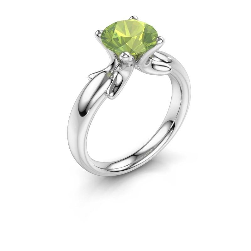 Ring Jodie 925 Silber Peridot 8 mm