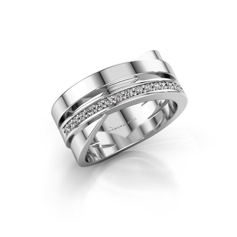 Ring Yolando 585 white gold lab-grown diamond 0.16 crt