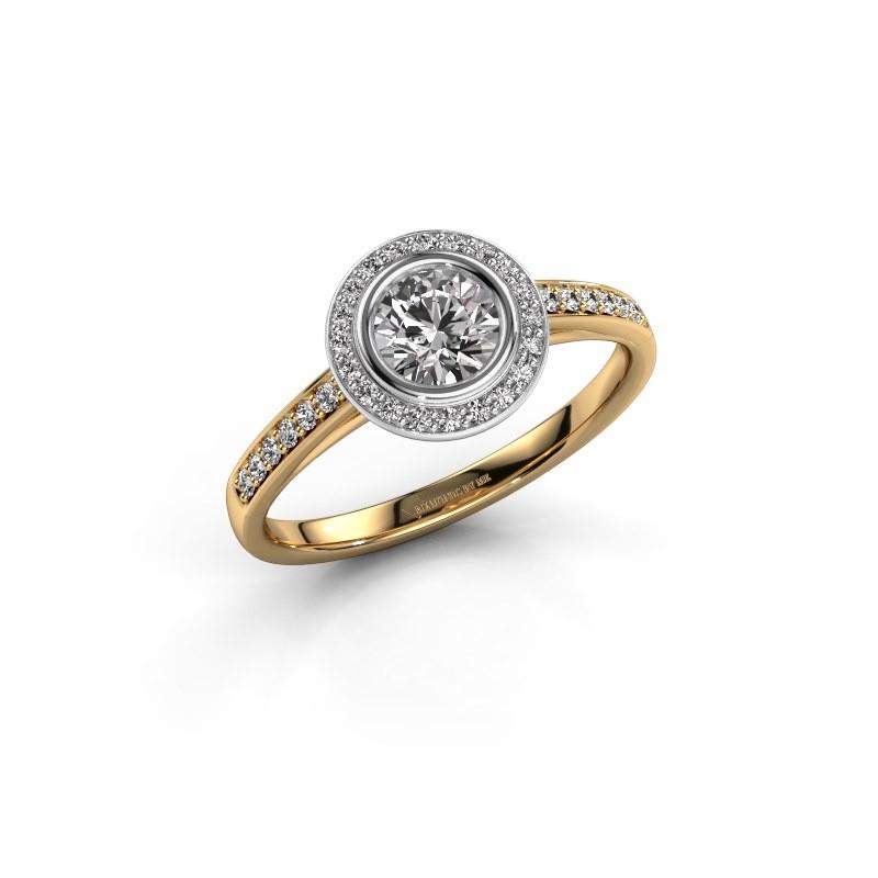 Verlovingsring Noud 2 RND 585 goud diamant 0.69 crt