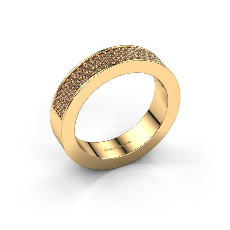 Ring Lindsey 2 585 goud bruine diamant 0.436 crt