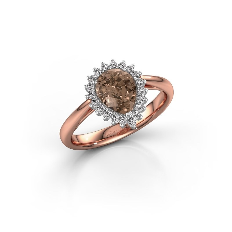 Engagement ring Tilly per 1 585 rose gold brown diamond 0.95 crt