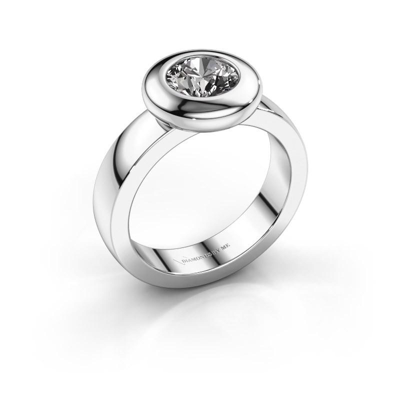 Bague Iris 925 argent diamant 1.00 crt