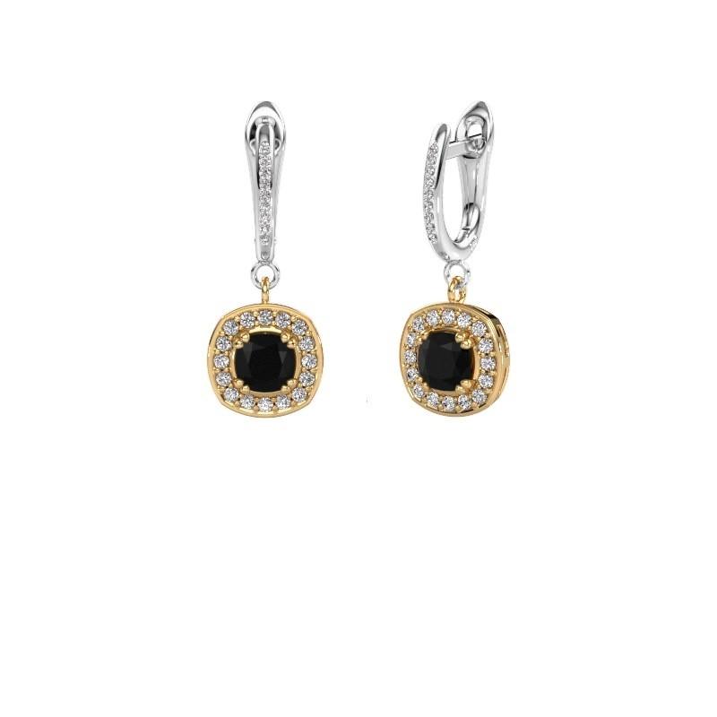Oorhangers Marlotte 2 585 goud zwarte diamant 1.565 crt
