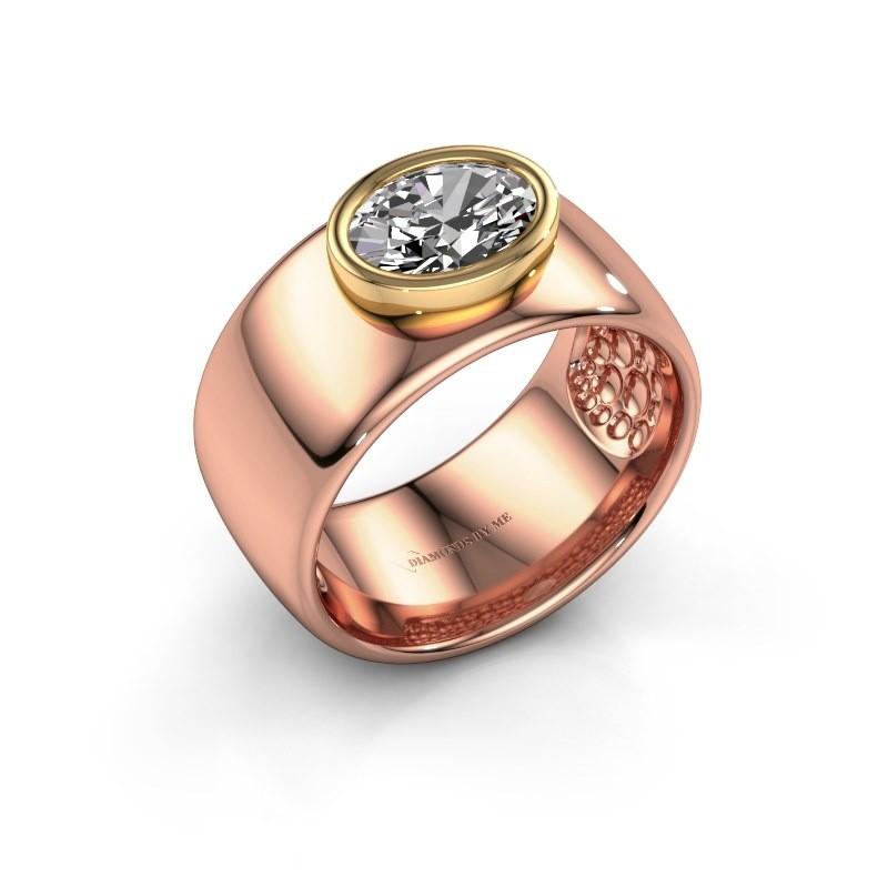 Ring Anouschka 585 rosé goud lab-grown diamant 1.15 crt