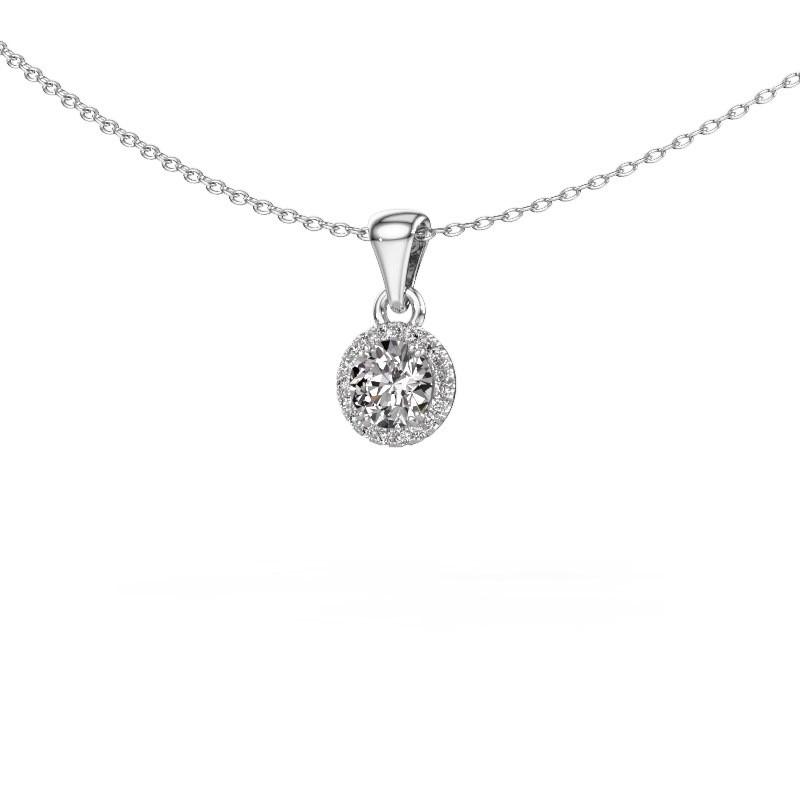 Hanger Seline rnd 950 platina diamant 0.48 crt
