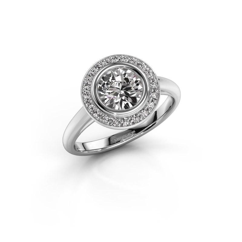 Promise ring Noud 1 RND 585 witgoud diamant 1.20 crt
