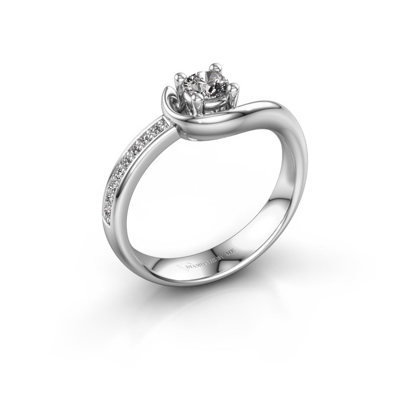 Ring Ceylin 585 witgoud zirkonia 4 mm