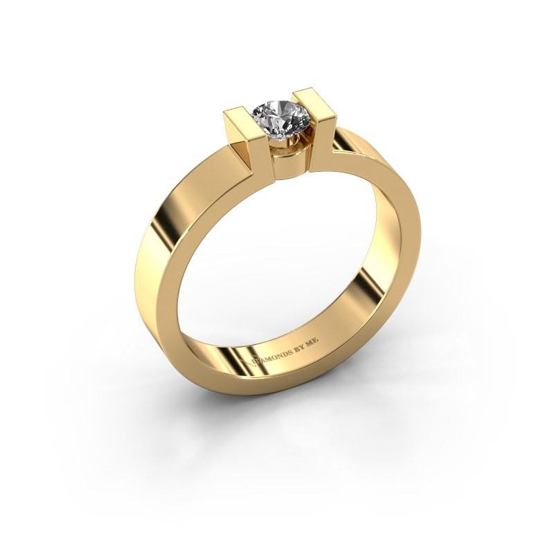 Verlovingsring Lieve 1 375 goud diamant 0.25 crt