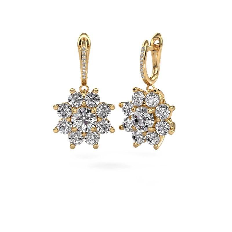 Oorhangers Camille 2 375 goud diamant 6.045 crt