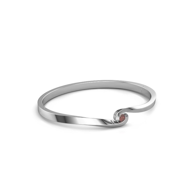 Bangle Sheryl 950 platinum garnet 3.7 mm