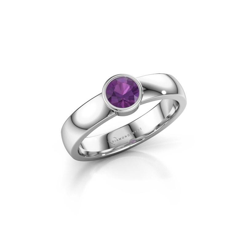 Ring Ise 1 950 platina amethist 4.7 mm