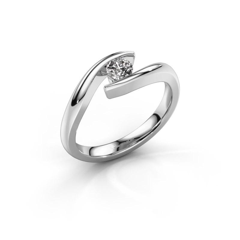 Aanzoeksring Alaina 950 platina diamant 0.25 crt