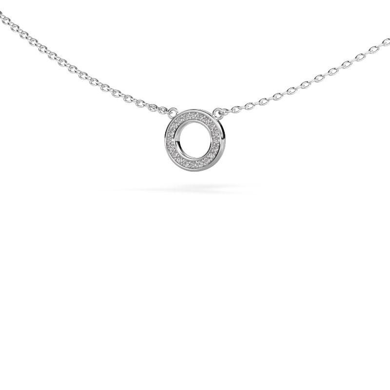 Hanger Round 2 585 witgoud diamant 0.05 crt