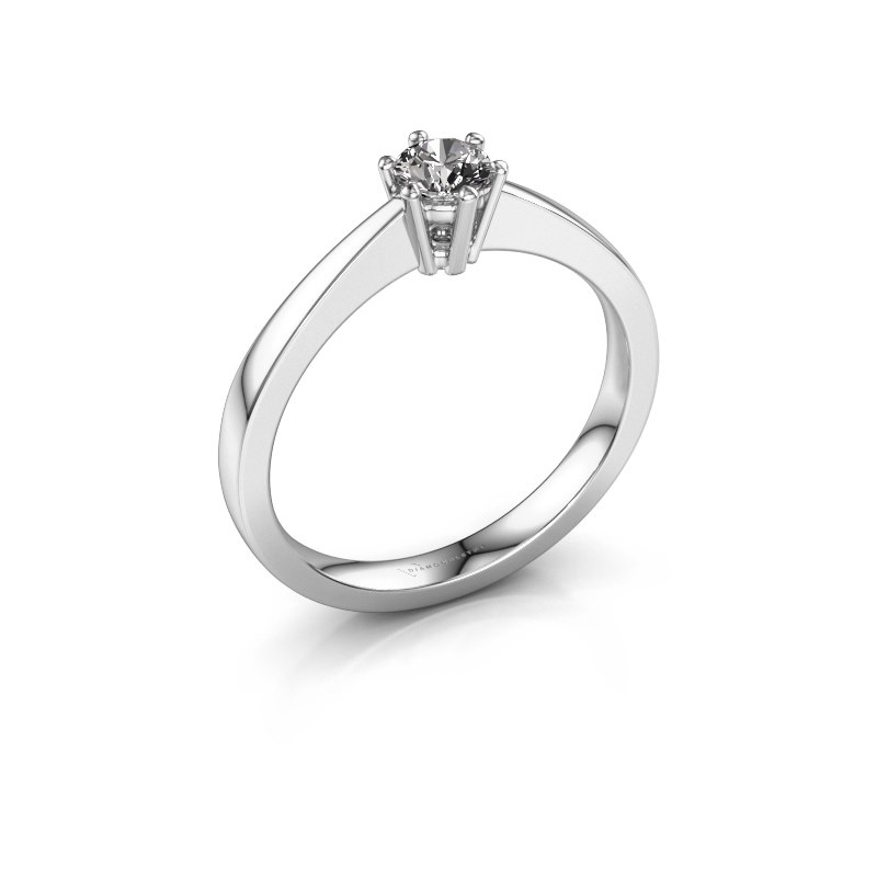 Bague de fiançailles Noortje 925 argent diamant synthétique 0.25 crt