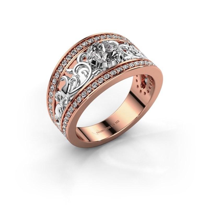 Ring Marilee 585 rosé goud lab-grown diamant 0.956 crt