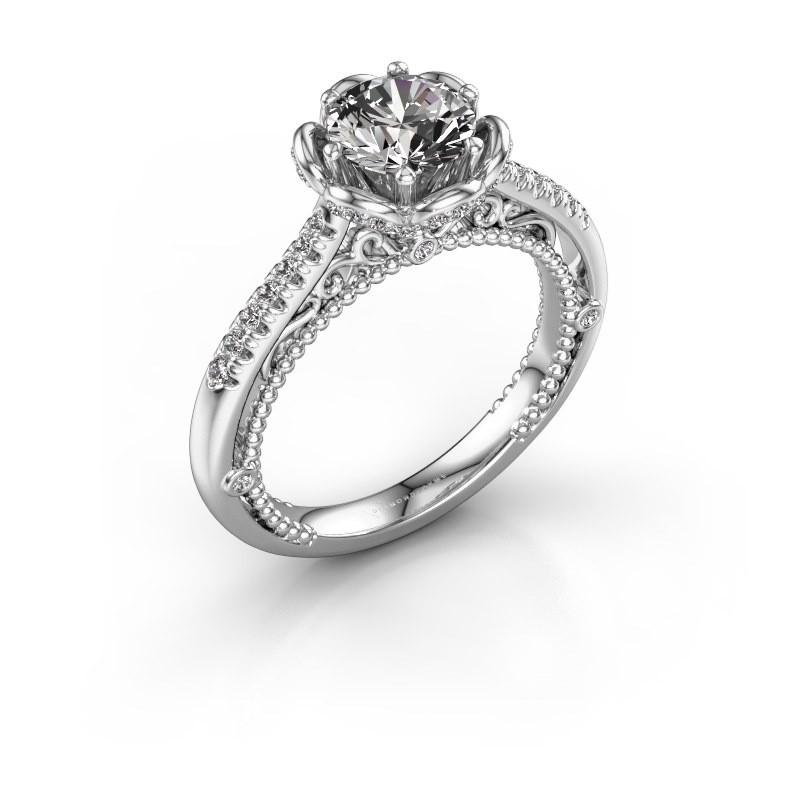 Verlobungsring Abbey 585 Weißgold Diamant 1.277 crt