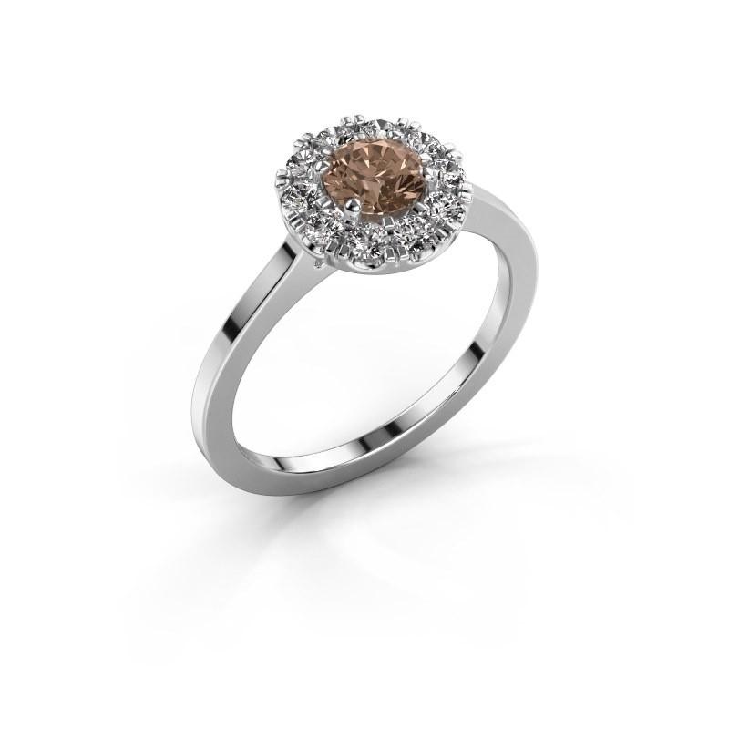 Verlovingsring Misti 1 585 witgoud bruine diamant 0.80 crt