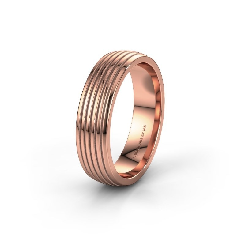 Trouwring WH0150M26A 585 rosé goud ±6x1.7 mm