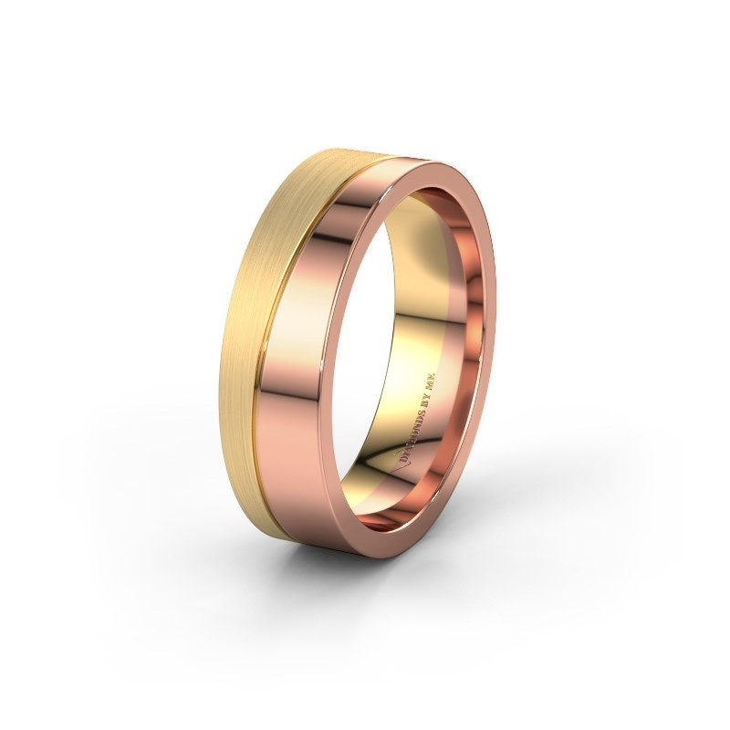Wedding ring WH0906M16A 585 rose gold ±0.24x0.08 in