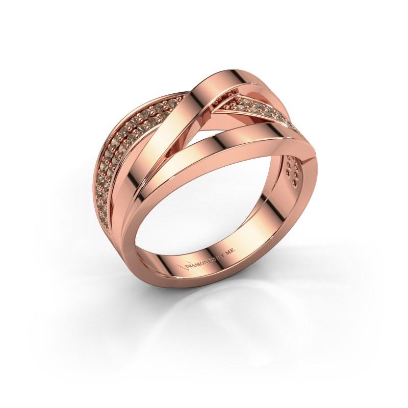 Ring Amira 585 rose gold brown diamond 0.345 crt