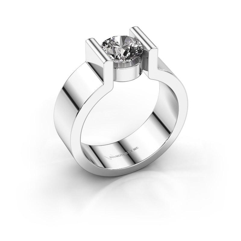 Verlovingsring Isabel 1 925 zilver diamant 1.00 crt