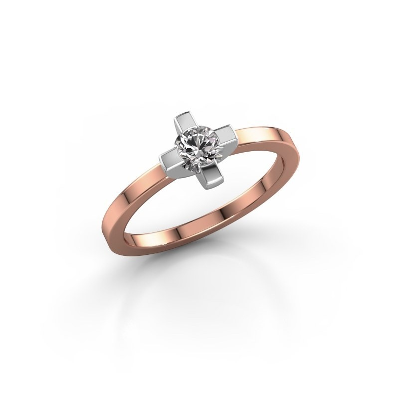 Ring Therese 585 rosé goud zirkonia 4.2 mm