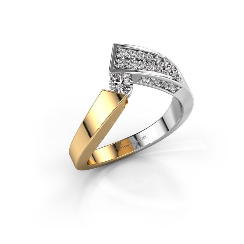 Ring Evie 585 gold lab grown diamond 0.456 crt
