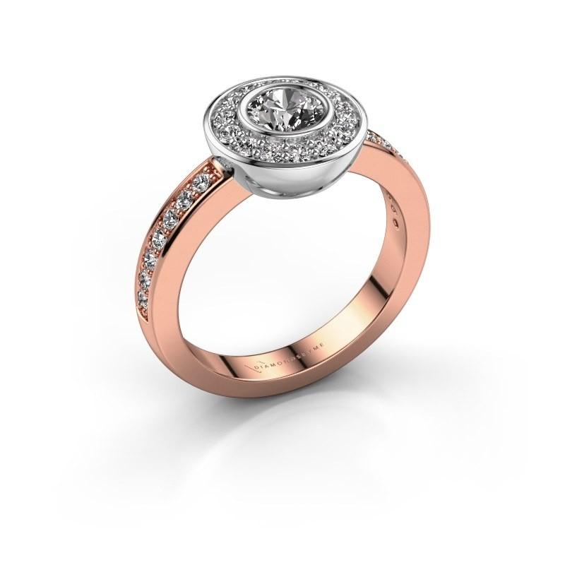 Ring Ivy 585 rose gold lab-grown diamond 0.920 crt