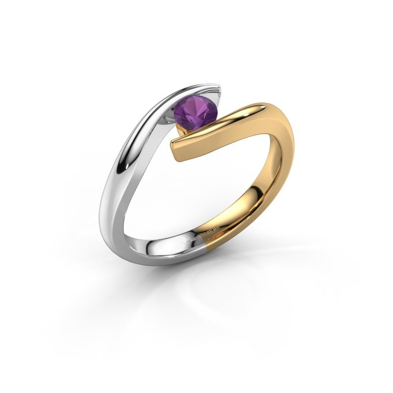 Engagement ring Alaina 585 gold amethyst 4 mm