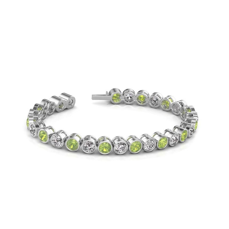 Tennis Bracelet Mandi 585 White Gold Peridot 5 Mm